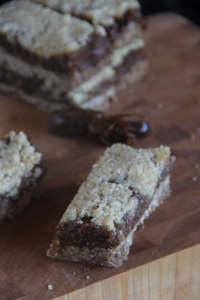 Fig Date Bars...  Breakfast on the go