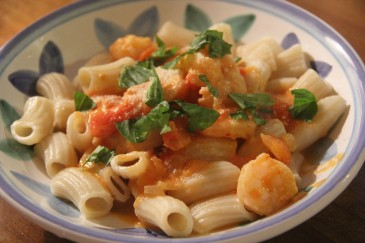 Rigatoni with Shrimp and Scallops