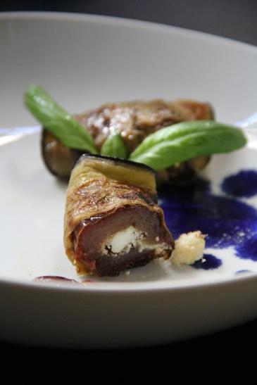 Goat Cheese Stuffed Eggplant