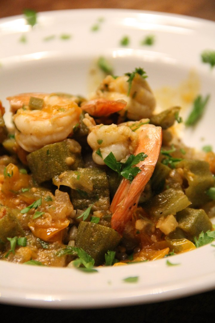 Southern Californian Shrimp and Okra Gumbo