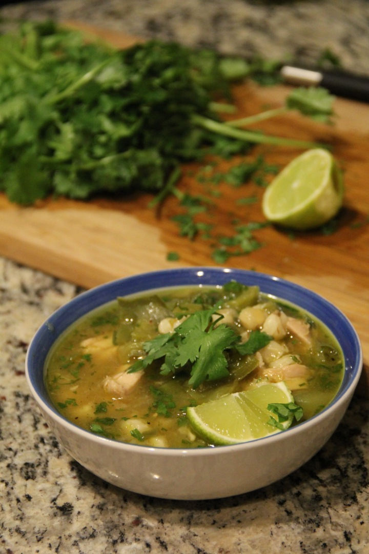 Spicy Green Chile Chicken Pozole to Ring in Fall