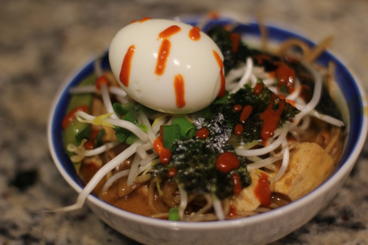 Spicy Miso Bird's Nest Soba Soup